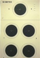 NRA Official Small bore Rifle Target  A-26 - Box of 250
