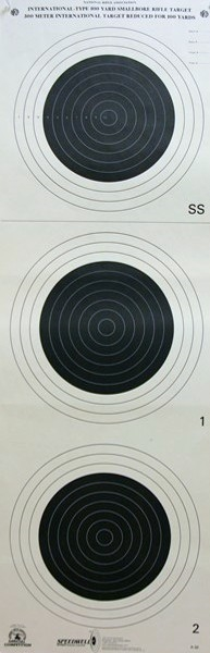 NRA Official Small bore Rifle Target  A-33 - Box of 100