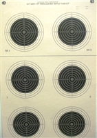 NRA Official Small bore Rifle Target  A-50 - Box of 250