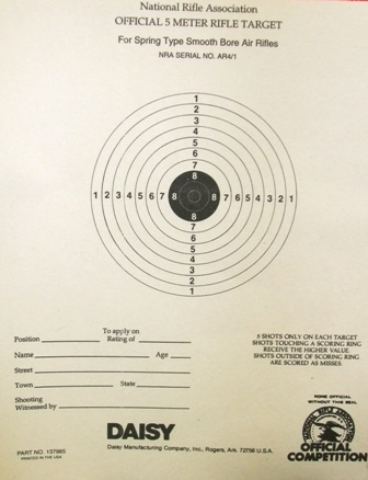 NRA Official Air Rifle Target AR-4/1 5 Meter BB Gun Target - Box of 1000