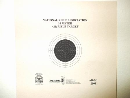 NRA Official Air Rifle Target AR-5/1 10 Meter Air Rifle Target - Box of 1000