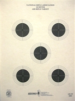 NRA Official Air Rifle Target AR-5/5 10 Meter Air Rifle Target - Box of 1000
