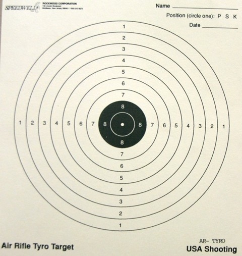10 Meter Air Rifle Tyro Target (USA Shooting) - Box of 1000