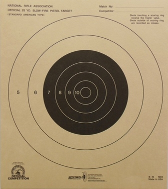 NRA Official Pistol Target  B-16 - Box of 1000