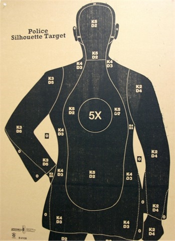 B21CB Target - Police Qualification Silhouette - Box of 100