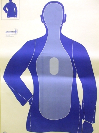 B21E3T - Florida Police Silhouette Center Mass Blue - Box of 200
