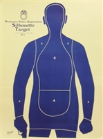 B21FSR Target - Police Qualification Silhouette - Box of 100