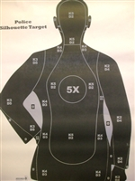 B21SC Target - Police Qualification Silhouette - Box 100