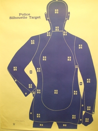 B21XFSBL Target - Police Qualification Silhouette - Box of 100