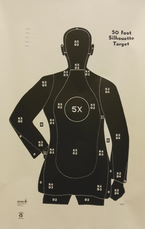 B21XR Target - Police Qualification Silhouette - Box of 200