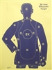 B21XRBL Target - Police Qualification Silhouette - Box of 200