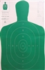 Official Police Qualification Silhouette B27E Economy Green Target - As low as $0.20