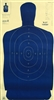 Official Police Qualification Silhouette B27FSA Blue Target - Box of 100