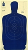 Official Police Qualification Silhouette B27FSBL Target - Box of 100