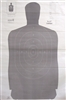 Official Police Qualification Silhouette B27FS Gray Target - Box of 100