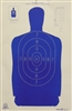 Official Police Sihouette B-29 Blue Target - Box of 500
