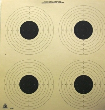 NRA Official Pistol Target  B-40/4 - Box of 500