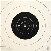 NRA Official Pistol Target  B-8 Repair Center Paper - 25 Yd Center - Box of 1000