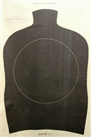 Torso Center Mass Silhouette Target - Box of 200