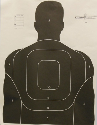 Police Silhouette BT5 Training Target with Scoring Zones - Box of 200