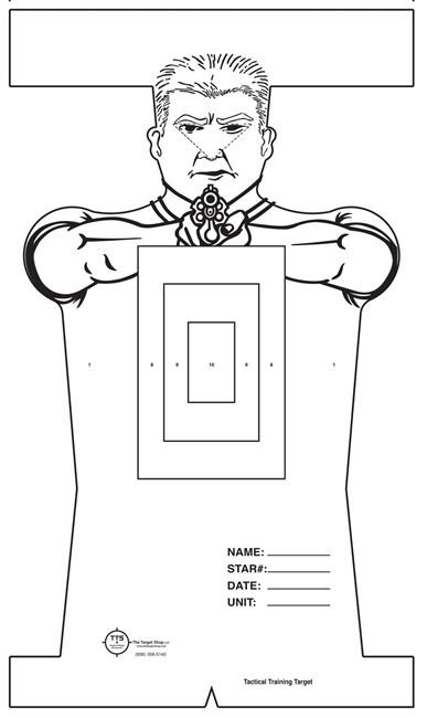 Dika - Tactical Target with Center Mass Scoring Zone - Bundle of 50