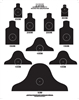DOD - M16-A1 - 25 Meter Alt Course C Target - Box of 250
