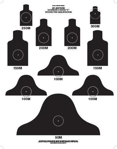Dod M16 A1 25 Meter Alt Course C Target Box Of 250
