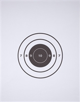 FBI Single Bullseye Paper Target - Box of 200