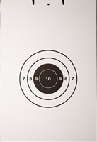 FBI Single Bullseye Cardboard Target - Bundle of 100