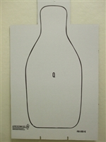 FBI-Q Shoulder Cut Cardboard Qualification Target - Bundle of 100