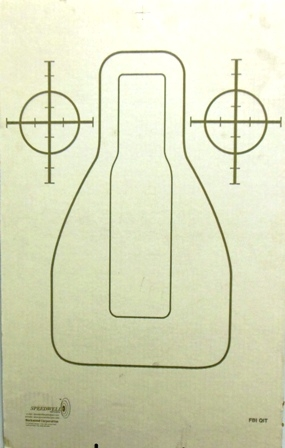 FBI-QIT Cardboards Training Target w/ 2 Bulls-eyes - Bundle of 100