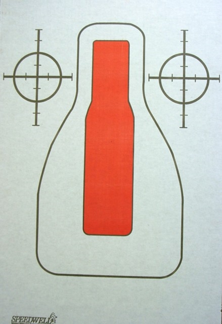 FBI-QITG Red Center Mass Target - Box of 200
