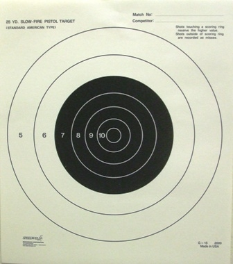 G15 Range Target - 25 YD Slow Fire - Box of 1000
