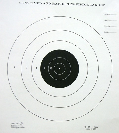 G17 Range Target - 50 FT TIMED - Box of 1000
