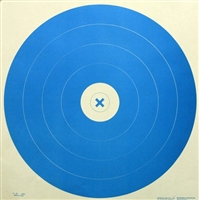 G66 Range Target - Archery Blue Bulls-eye - Box of 250