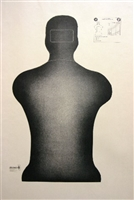 Georgia State Police Silhouette (Reduced) Training Target - Box of 200