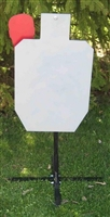 IPSC (HSR) Steel Target w/ Stand - AR 500 Challenge Plate w/ Movable Hostage Plate - EA