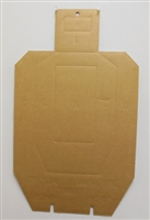 Official IPSC Cardboard Target w/ Slots and Holes