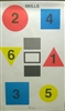 Command Skills Target - Callout Geometric Shapes, Number, Color - Box of 100