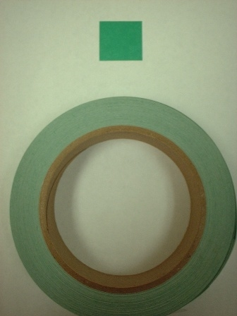 Target Repair Paster - Green Square - Roll of 1000