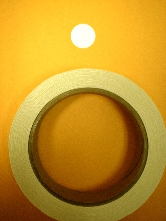 Target Repair Paster - White Round - Roll of 1000