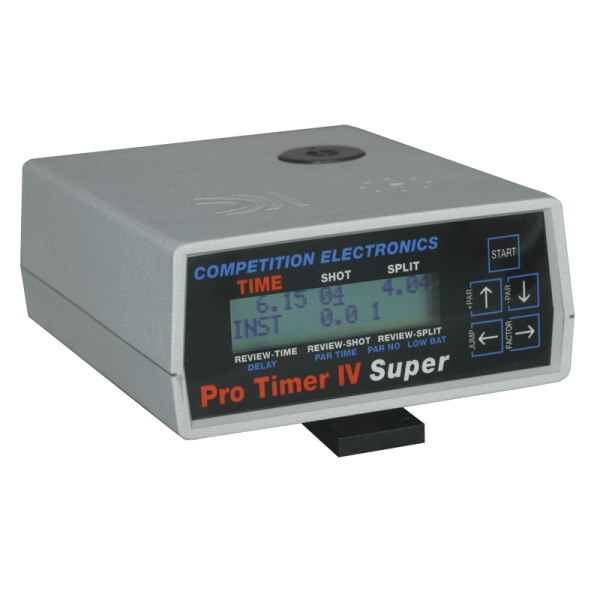 ProTimer IV Super can control turning targets, activate horn and light signals, record hits from steel targets
