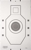 IPSC QIT Bulls-eye Cardboard Target - Bundle of 50
