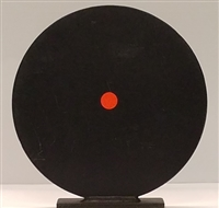 "10"" Round Steel Knock Down Plate w/ Base - AR 500 Steel Target - EA"