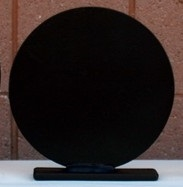 "6"" Round Steel Target with Base - 3/8"" AR 500 Steel Plate Knock down and Setup Per Each"