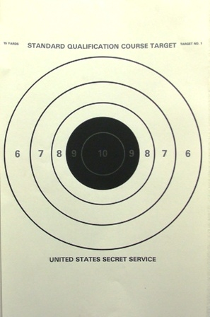 US Secret Service SQC1 - 15 Yd Target - Box of 500