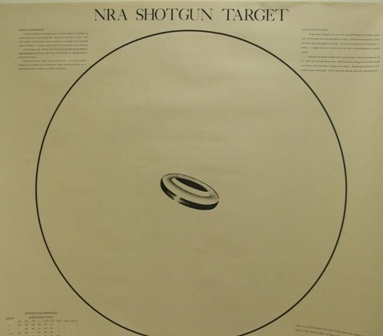 Official NRA Shotgun Patterning Target - Claybird - Box of 100