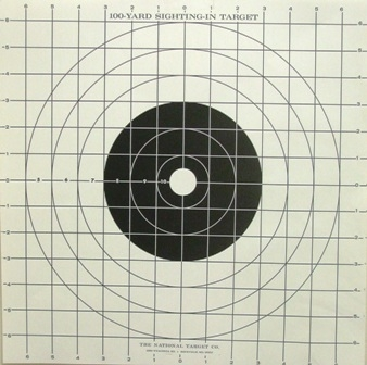 ST3 Sight-in Grid Target - 100 Yd Black - Box of 500