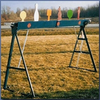 "Plate Rack w/ 6 Re-Set Plates -  8"" AR500 Round Plates - EA"