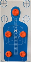 TQ-15 Anatomy Cardboard Target With Clay